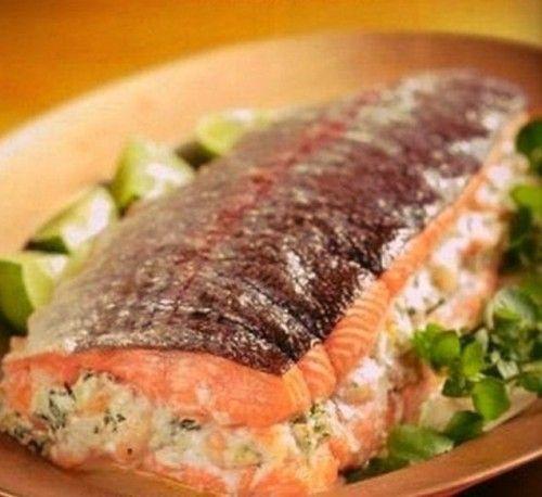 рецепт фаршированного лосося с сыром