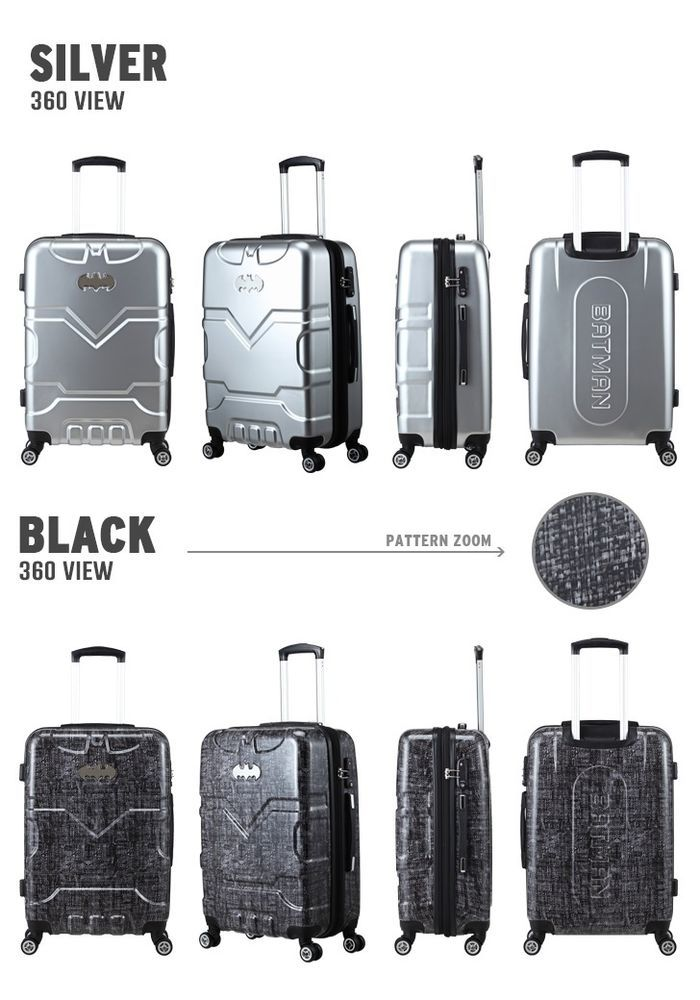 Batman Origin MULTIWHEEL Carry-On Flight Cabin Polycarbonate Trolley Approved #LUCKYFACTORY