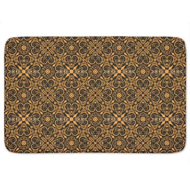 Uneekee Opulenta Orange Bath Mat