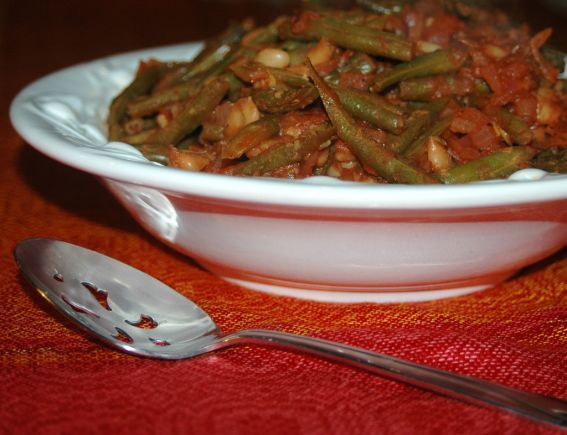Fassolia Khadra - Green Bean Stew - The Largest Egyptian Food Recipes Collection