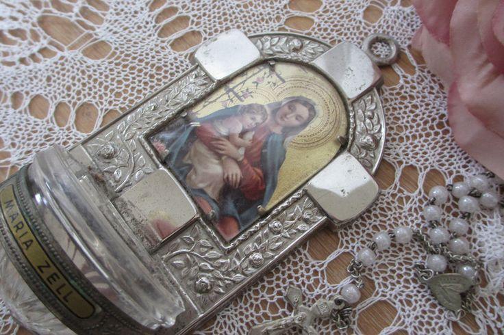 Vintage Deko - Weihwasserkessel Weihbrunnen french shabby Madonna - ein Designerstück von christa-123 bei DaWanda