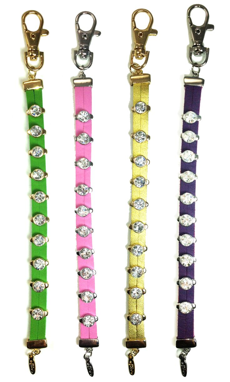 Genuine Leather and Crystal Stroke Counters- by Navika   Keep track of your game!  Ever thought you may have added an extra stroke to your score because you lost count? Using the beautiful Crystal Bead Stroke Counter makes remembering your score easy and fun. Leather straps with gold or silver plated crystal beads that easily glide along to help you keep track of your game!  The perfect golfing accessory for the Golf Fashionista!