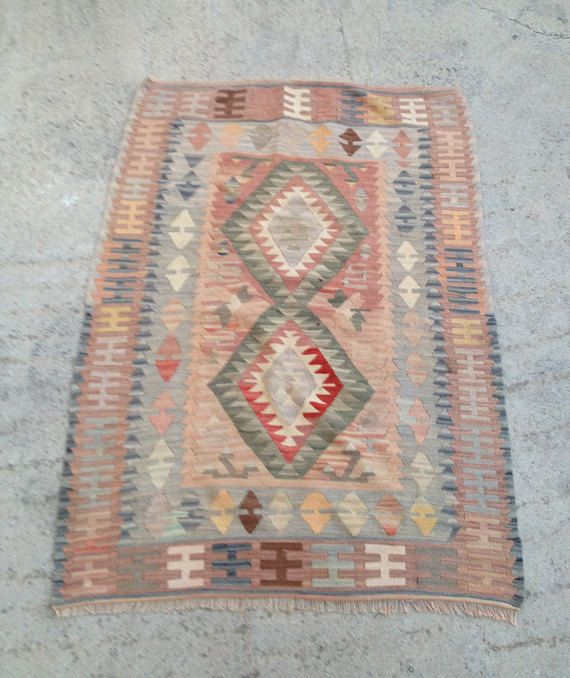 Kilim Rug Turkish Kilims Area Rug Pink Rug Living Room