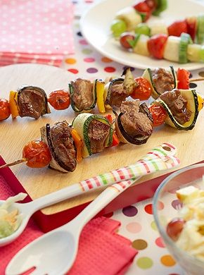 #WelshLamb Yummy Kebabs. 296 kcal per serving.