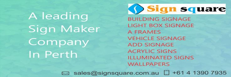 Sign Square is leading largest trusted signage company in Perth. Sign Square that offers signs services such building signage, Light Box Signs, LED Signs, Vehicle Signage, Wallpapers, Building Signage, 3D Sign, Acrylic Signs and much more at very affordable prices and bulk discounts on signage and signs. Call us now 0413 907 935 or visit www.signsquare.com.au for more details.