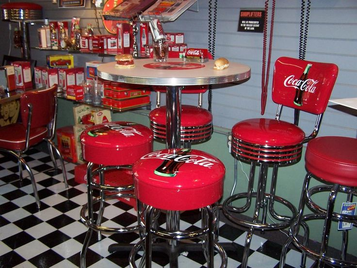 American Diner Retro Pub Table Or Cocktail Table Sets And Restaurant    Diner Table Sets