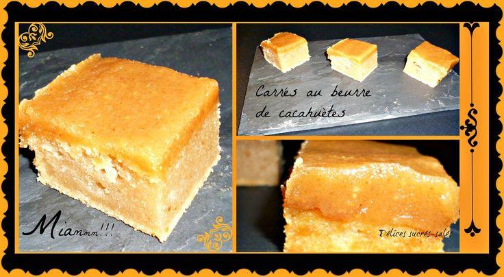 Carrés au beurre de cacahuète