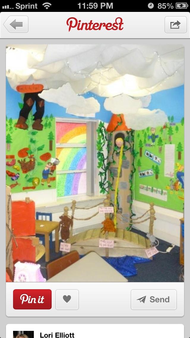 Loves this idea for a Fairytale classroom theme