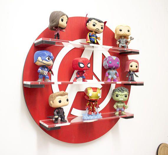 Avengers Funko Pop vinyl display Shelf