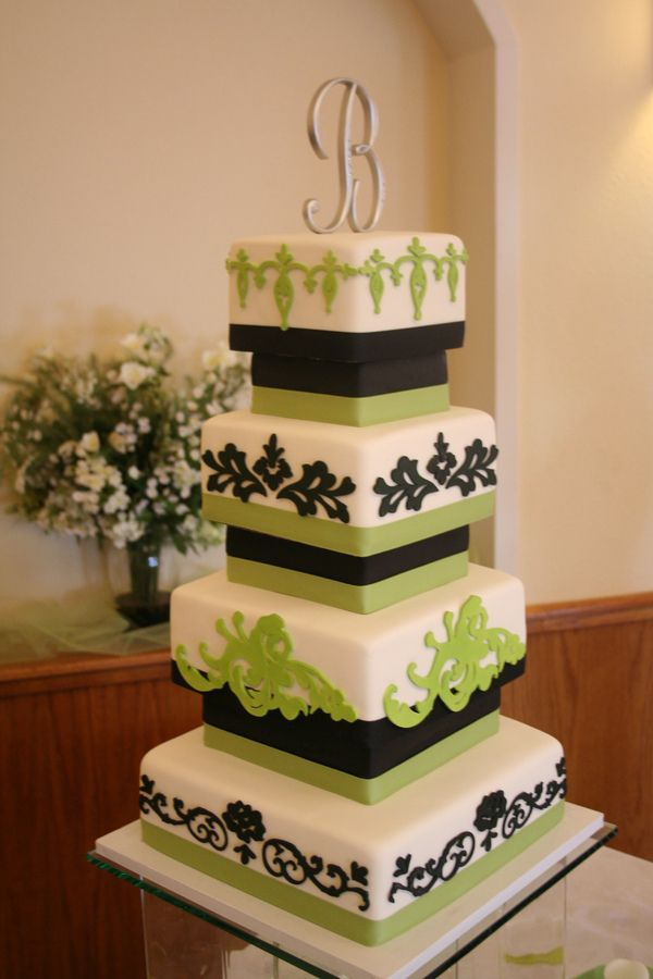square wedding cakes pinterest image detail for apple green amp black wedding cake 20408