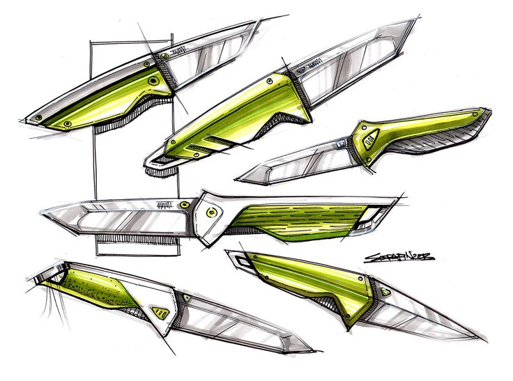 knife drawing designs - 700×521