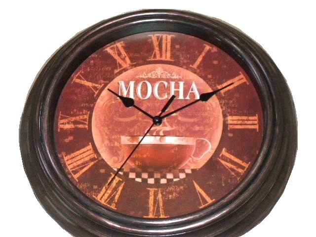 17 best images about coffee kitchen on pinterest framed wall art mocha and coffee - Coffee themed wall clocks ...