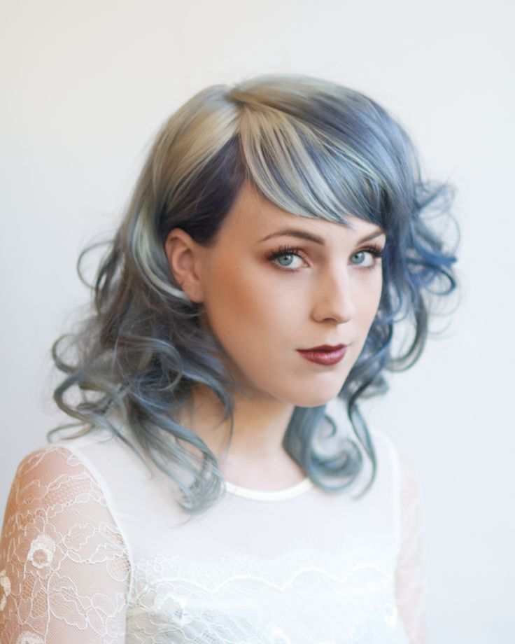 Powder blue hair - I will accept my grey when you can make the rest of my hair this color.
