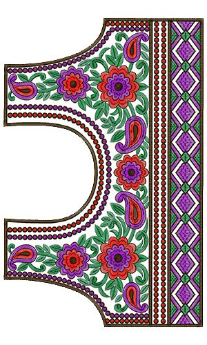 9314 Blouse Embroidery Design