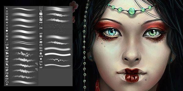 Наборы кистей для волос Photoshop (Brush Set) - Art Tower
