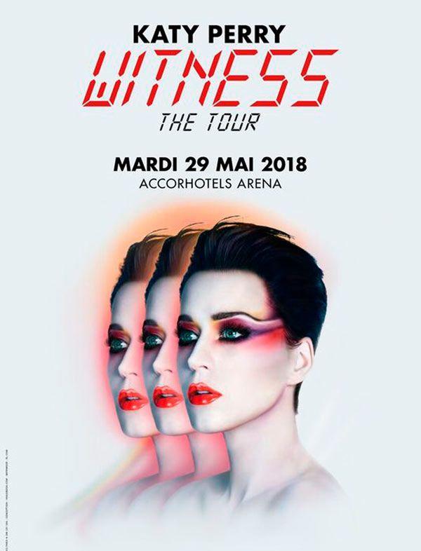 Nouveau look, nouvel album, nouvelle tournée ! Katy Perry sera de retour en concert à Paris le 29 mai 2018 à l'occasion du Witness Tour....