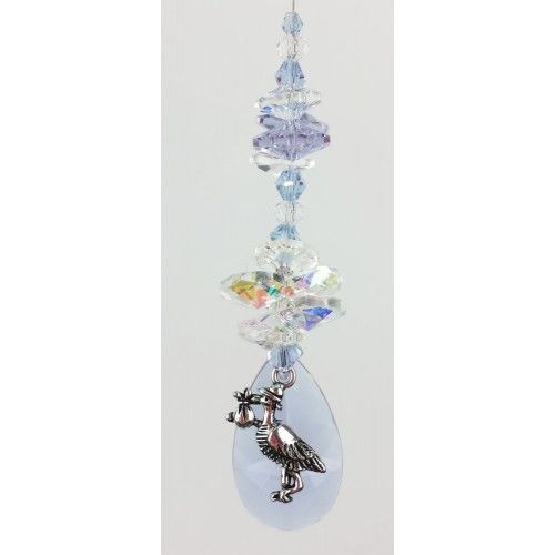 Baby Suncatcher 5 - BBSC005 - Crystal Suncatchers, Stick on Stained Glass, Leadlight Adhesive Overlay - Just Like Leadlight