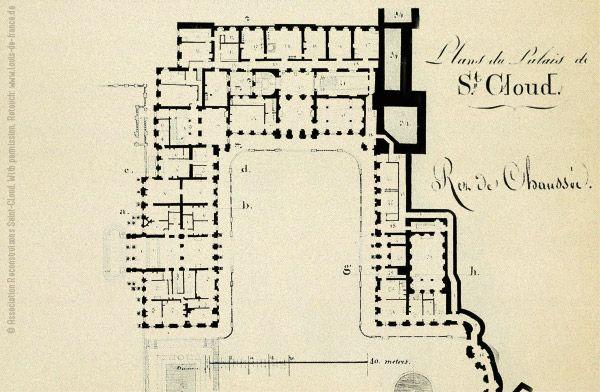 ch teau de saint cloud erdgeschoss floor plans castles palaces pinterest ground floor. Black Bedroom Furniture Sets. Home Design Ideas
