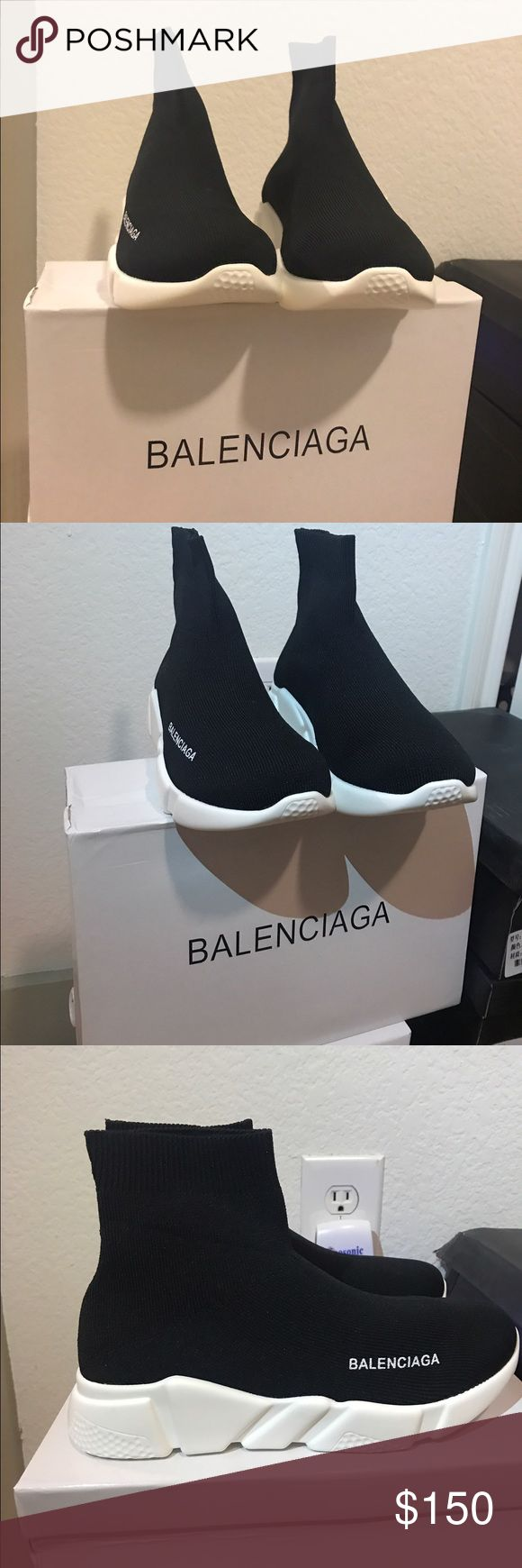 🔥SALE🔥BALENCIAGA men's Knit High-Top Sneakers BALENCIAGA men's Knit High-Top Sneakers⚠️UA⚠️ Balenciaga Shoes Sneakers