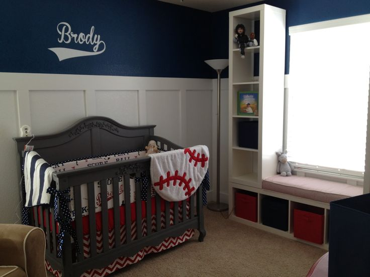 Vintage Baseball Crib Bedding