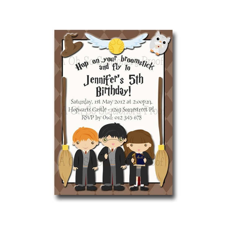 Best Harry Potter Bday Party Images On Pinterest Baking - Birthday invitations harry potter printable
