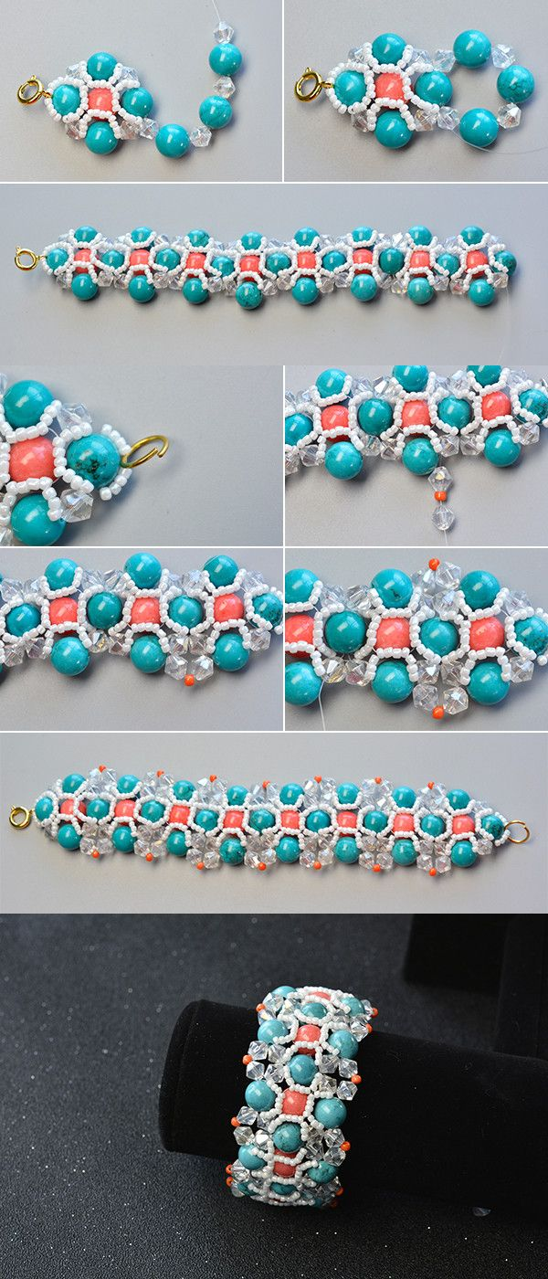 Like the turquoise beaded bracelet?The tutorial will be shared by LC.Pandahall.com soon.