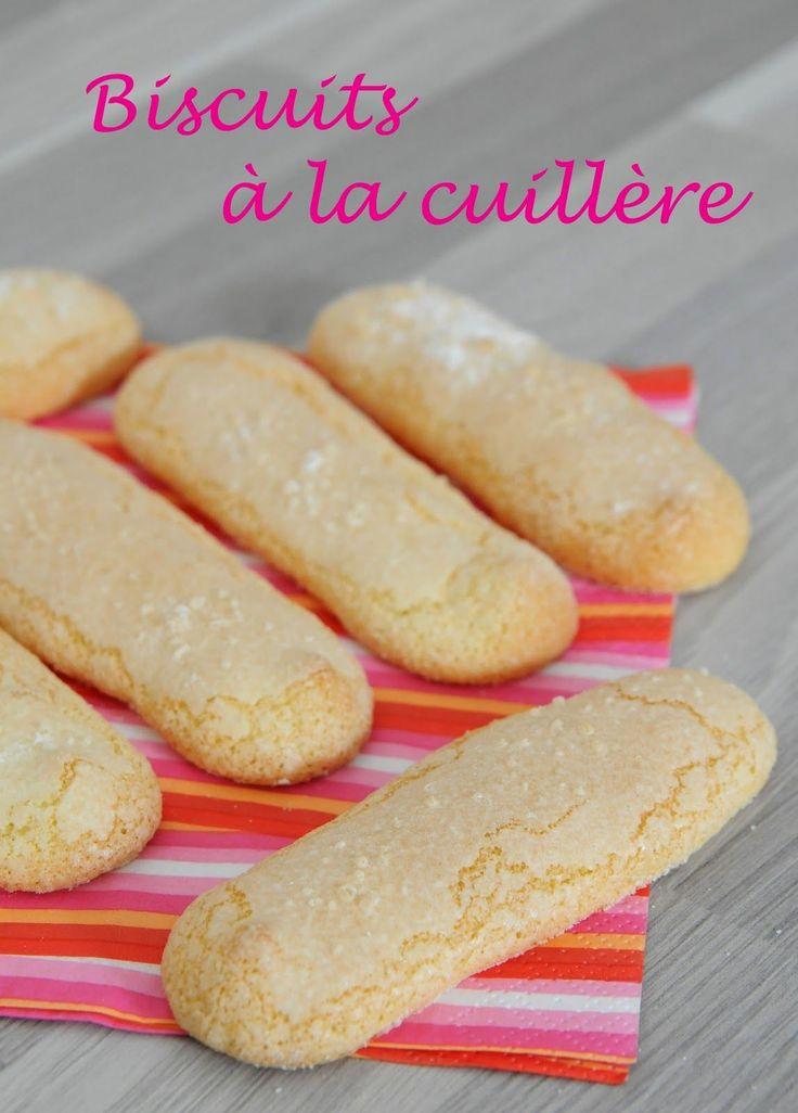 De ces biscuits à la cuillère j'en fais souvent, il faut dire que c'est facile à faire et qu'ils permettent d'autres réalisations gourmandes...