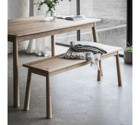 This Scandinavian style Wycombe Dining Bench is made with finest solid oak and veneers, to enhance the contemporary aesthetic colour palette, and could be incorporated with the Wycombe Dining Table to suit your family requirements. With its unique legs and faithful 19th century design, this piece is the essence of nordic style. Make your home contemporary and on-trend, with the practical and style-conscious Wycombe Dining Table. Matching furniture available.