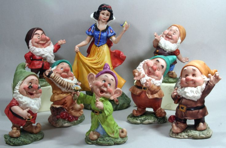 SnowWhite and the Dwarfs in Porcelain