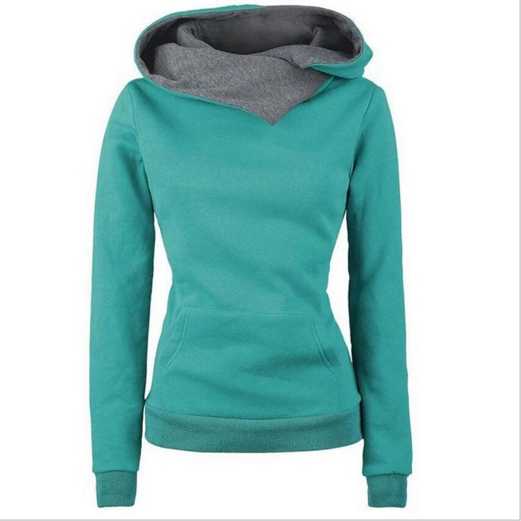 2016 Women Hoodies Sweatshirt Casual Hooded Long Sleeve Casual Solid Hoodie For Women Sudaderas Mujer  Autumn New