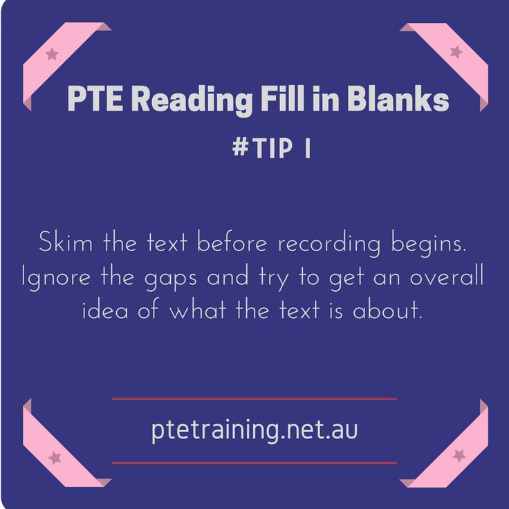 PTE Reading Fill in the blanks #tips http://www.ptetraining.net.au/