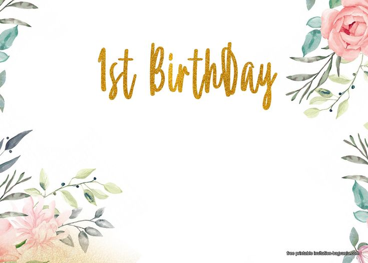 Free Printable First Floral Birthday Invitation Templates Floral Birthday Invitations Free Birthday Invitation Templates Birthday Invitations