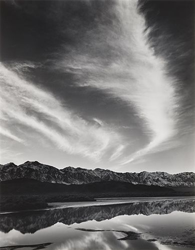 Sierra Nevada, Winter Evening by Ansel Adams