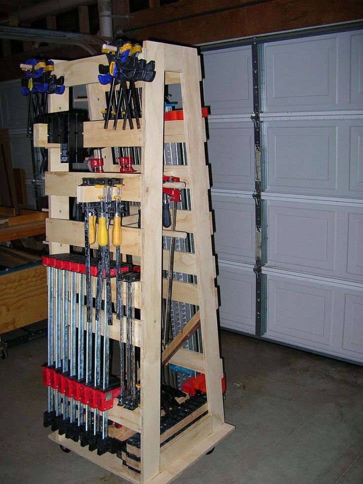 Clamp rack plans re anyone have the rockler mobile for Woodworking cart
