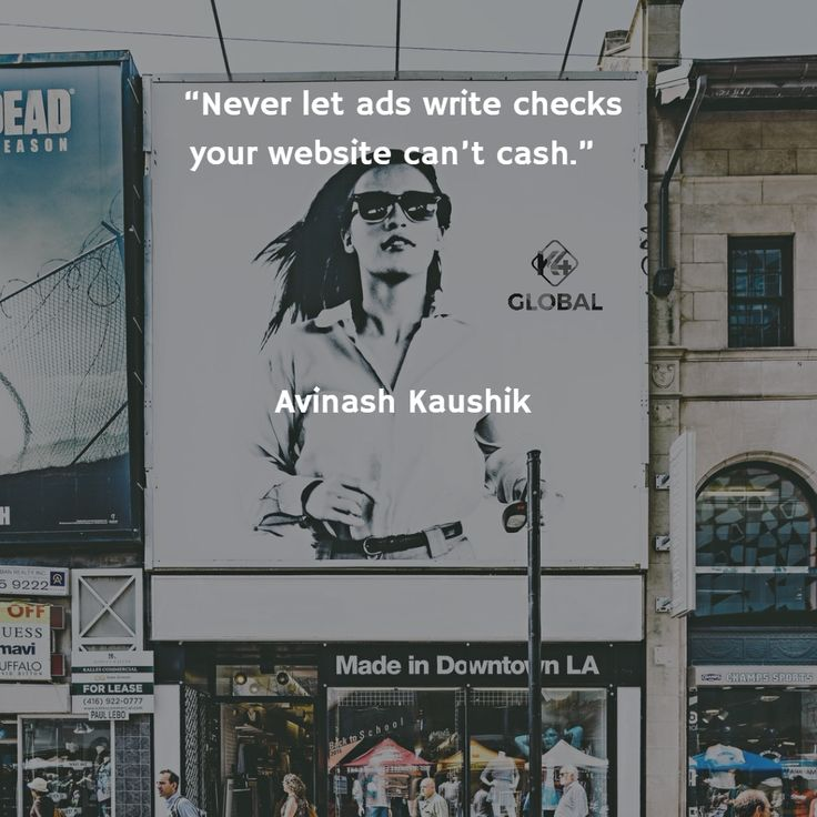 Never let ads write checks your website can't cash.