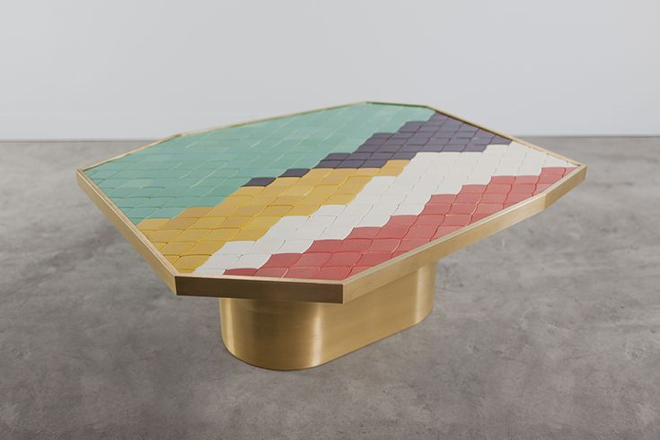 Landscape side table by India Mahdavi in collaboration with Carwan Gallery