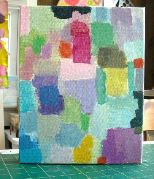 color exploration, mixing, shades and tints, non-objective