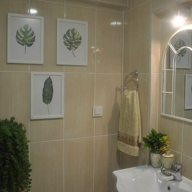 Günaydınlar💚💚💚  Bitkiler bulunduğu her yeri güzelleştirmiyormu?  #gomectevim #evimden #evimiseviyorum #evimdergisi #bathroom