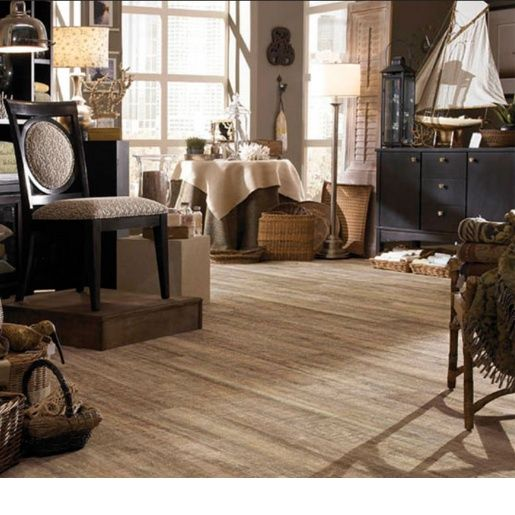 Luxury Vinyl COREtec Plus - Nantucket Oak 8mm x 7 1/8 x 48 20 mil Surface Layer Textured- with Attached Cork Underlayment