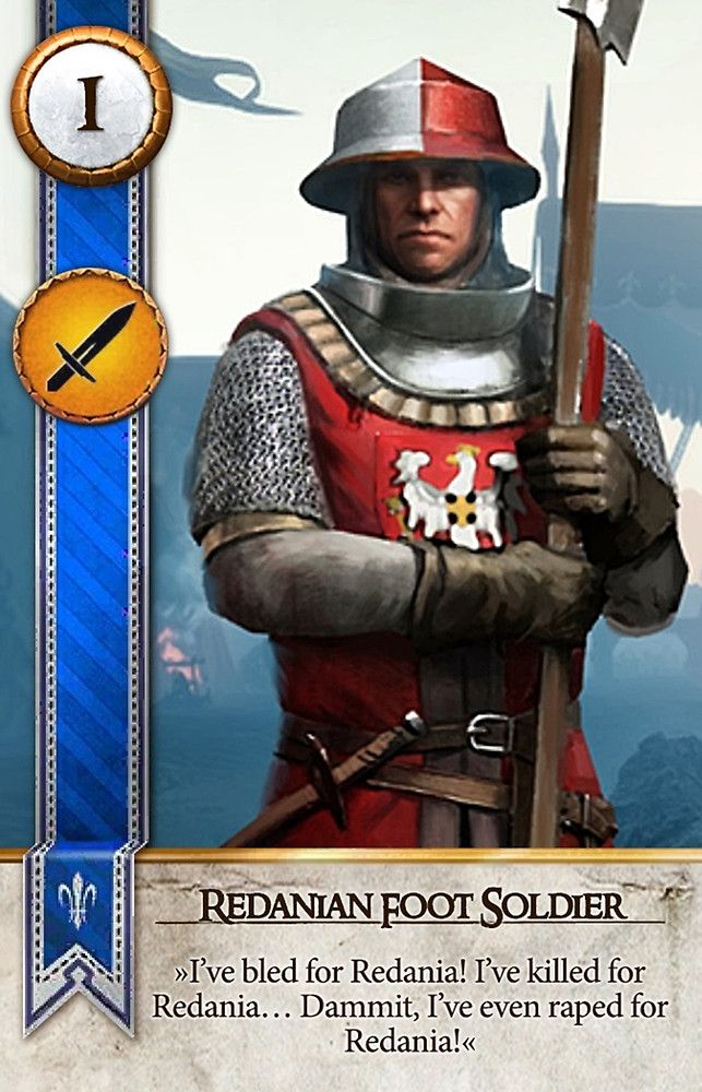 Redanian Foot Soldier (Gwent Card) - The Witcher 3: Wild Hunt