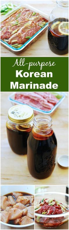 All-purpose marinade for your Korean BBQ! Easy, flavorful and long lasting!