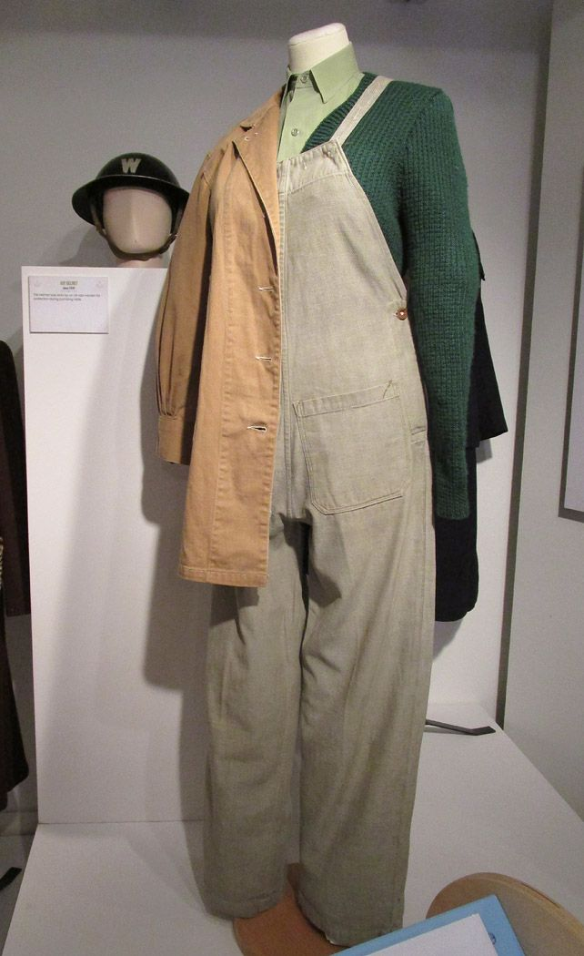 Land Girl uniform at Oxfordshire Museum's Keeping Up Appearances exhibition