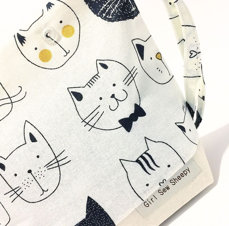 Excited to share the latest addition to my #etsy shop: Cats, 1 Skein Size, Clear Snap Closures, Cotton Drill Base Front & Back, Natural Cotton Lined, Project Bag for Knitting Crochet Enamel Pins #knitting #totebag #stitchmarkers #yarn #knittingbag #craftbag #enamelpin #drawstringbag #cats #catknittingbag #catbag #kittens #progresskeepers #sockyarn