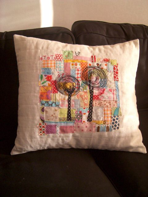 Embroidery on patchwork - nice! Flickr - Photo Sharing!