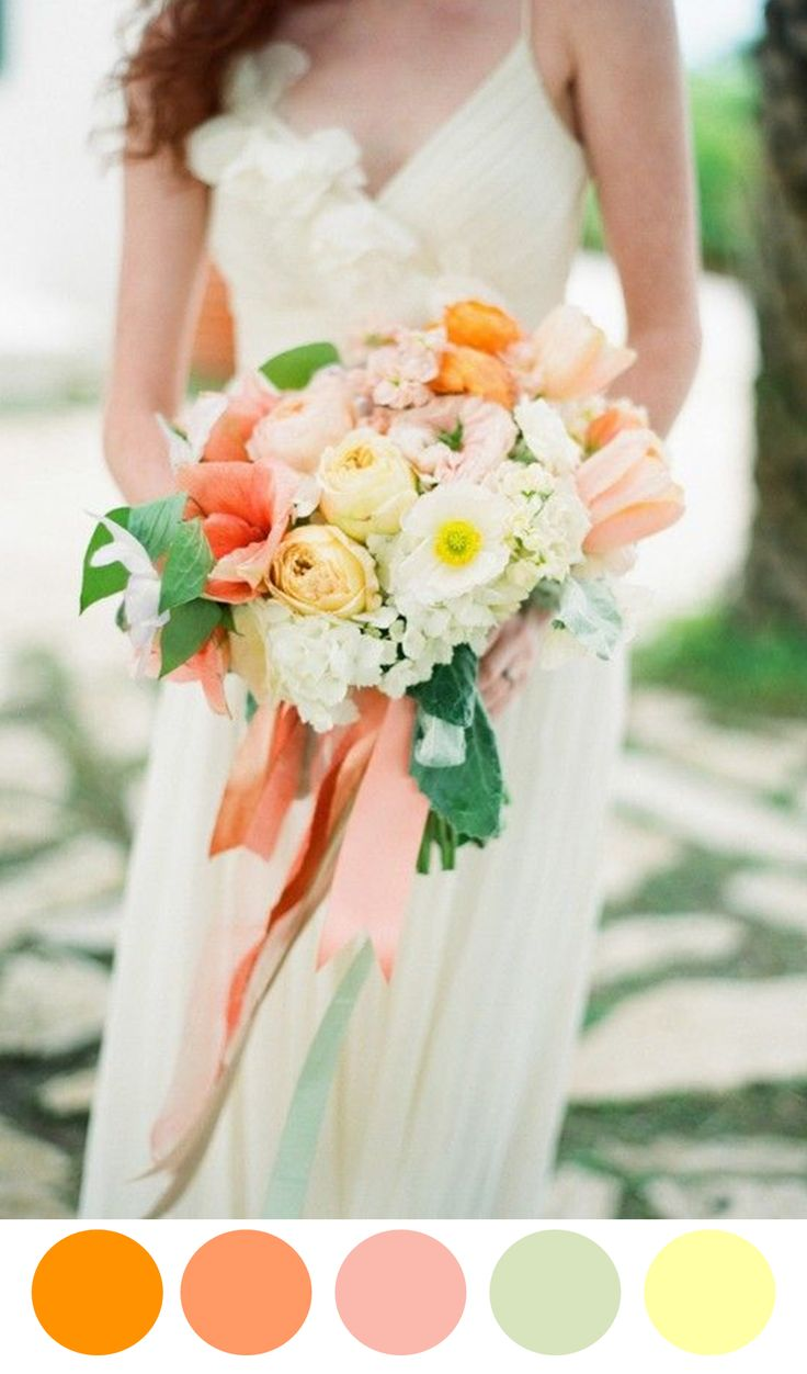 10 Colorful Bouquets for Your Wedding Day via @perfectpalette - www.theperfectpalette.com - Color Ideas for Weddings + Parties