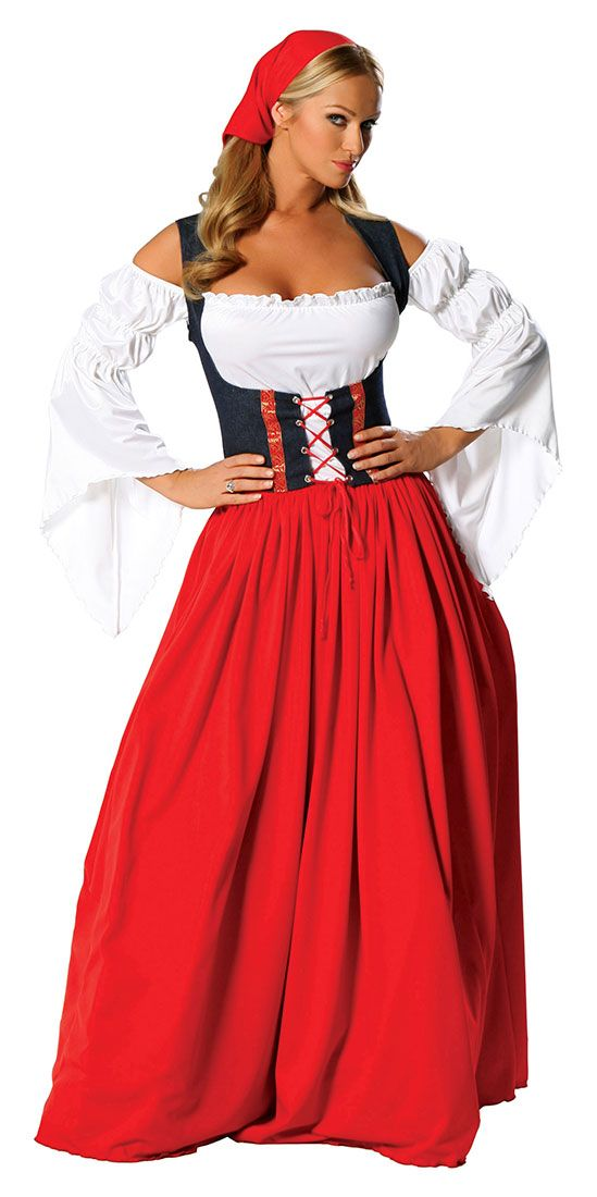 Guten Tag! Swiss Miss Adult Costume - German and Oktoberfest Costumes