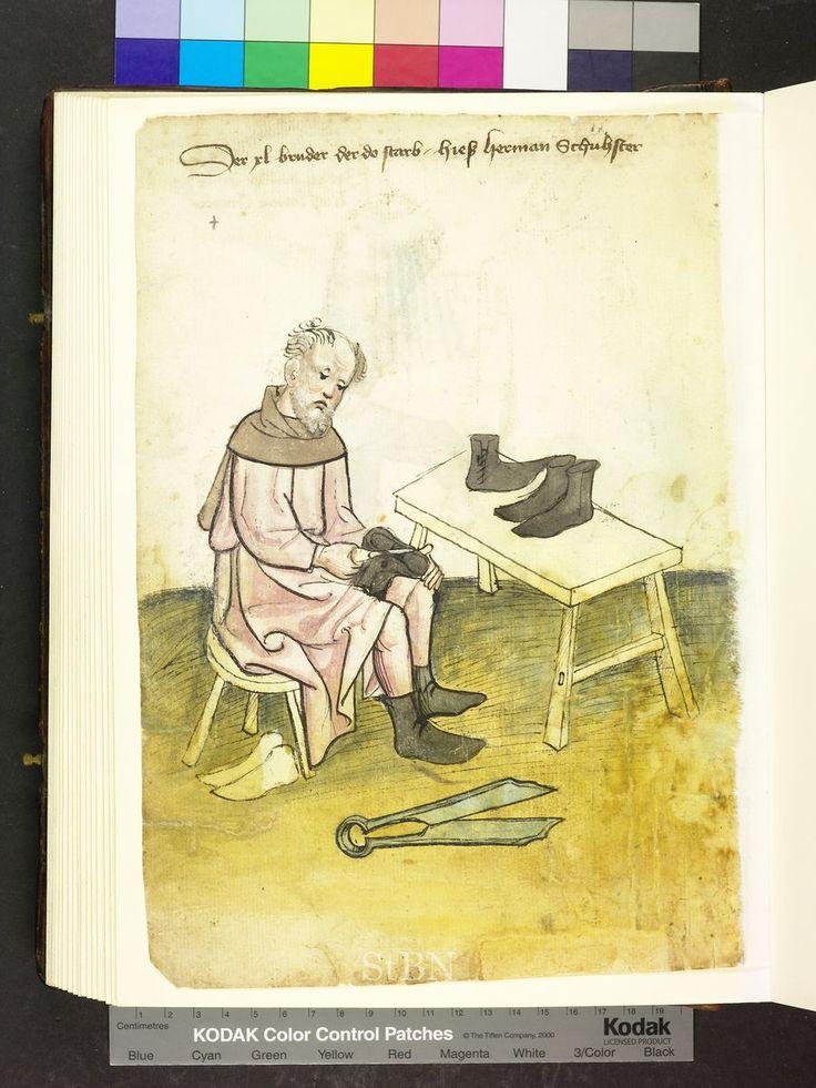 1425 German, shoe maker  Die Hausbücher der Nürnberger Zwölfbrüderstiftungen