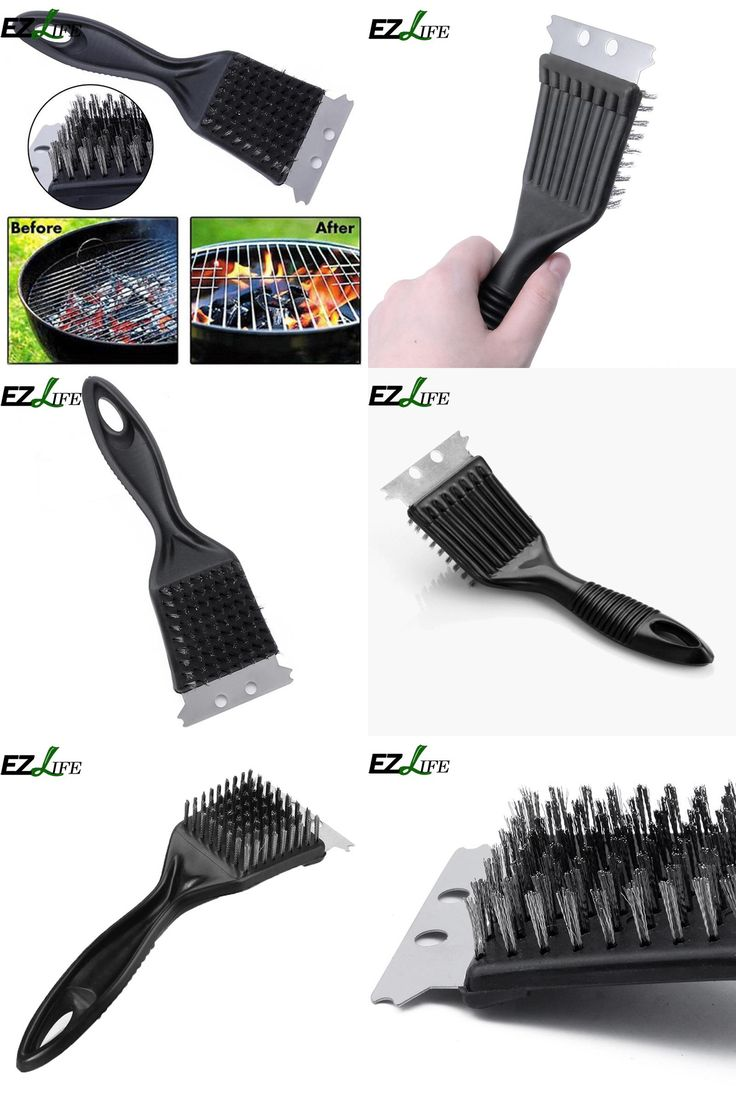 [Visit to Buy] EZLIFE high Grade BBQ Grill Brush Pro deep clean steel brush #Advertisement