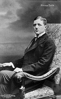 Erik, Duke of Västmanland (1889 - 1918). Son of Gustaf V and Victoria of Baden.