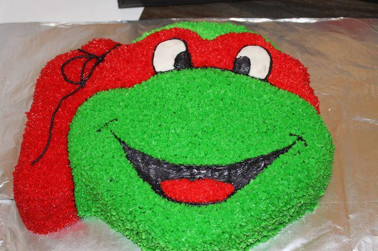 Teenage Mutant Ninja Turtle Party cake! @thepielesstraveled.blogspot.com